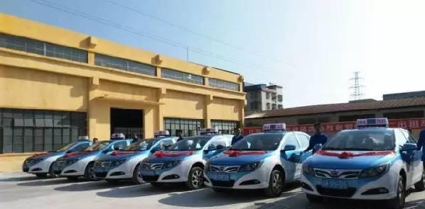 肇慶城區首批純電動出租車正式上路