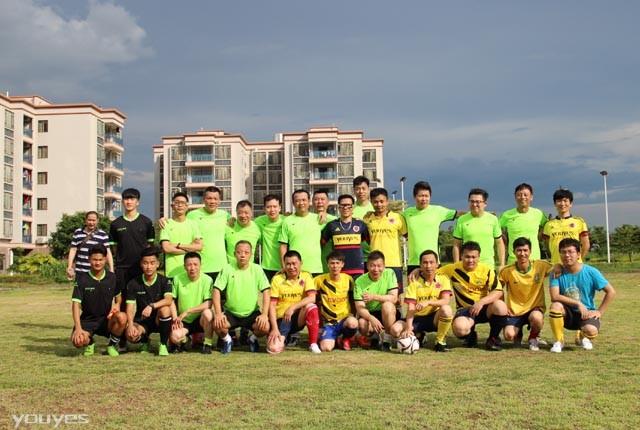广州浩能机电安装工程有限公司与我司进行一场足球联谊赛